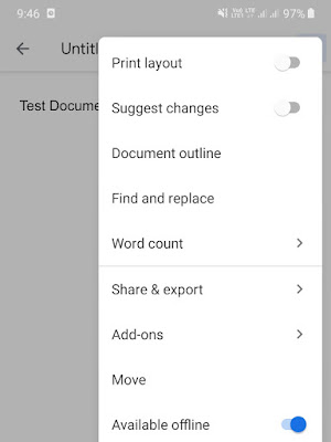 Share & Export - Google Docs