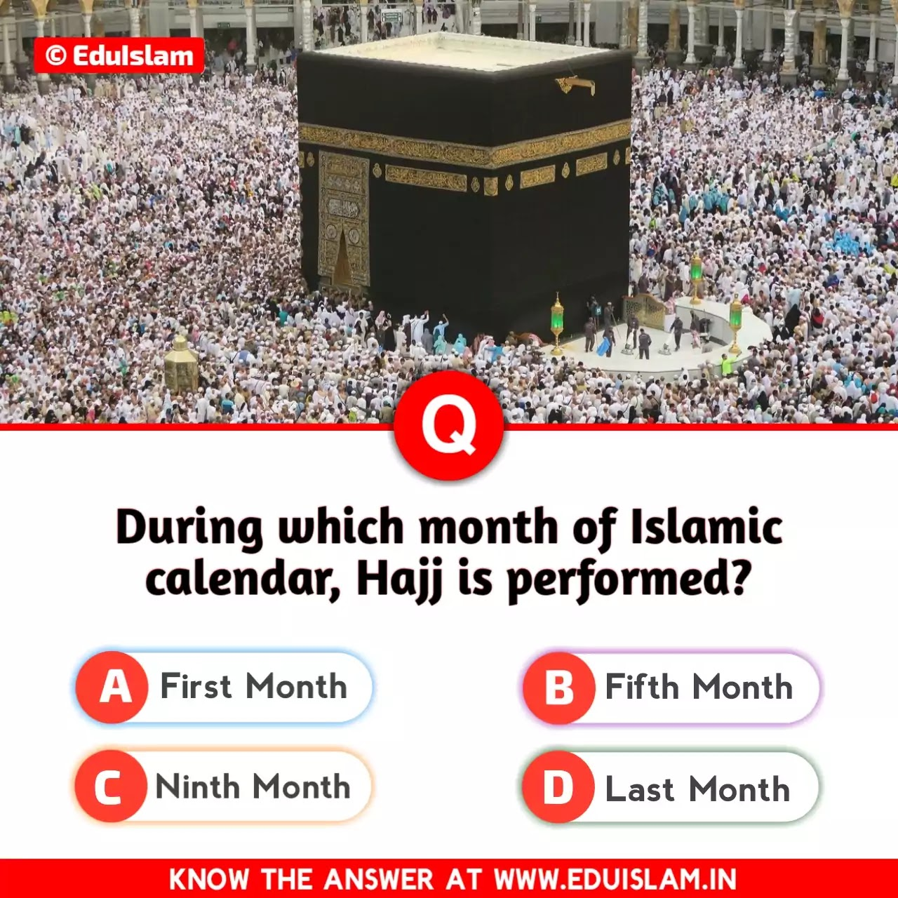 Hajj Islamic quiz