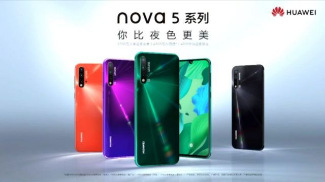 Huawei Nova 5 series smartphones launched in China: Details