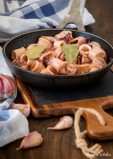 Calamares estofados