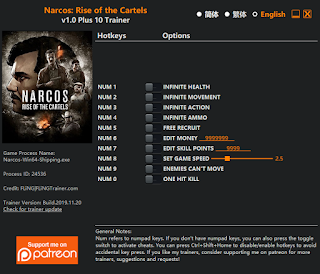 Download Narcos: Rise OF The Cartel PC Trainer