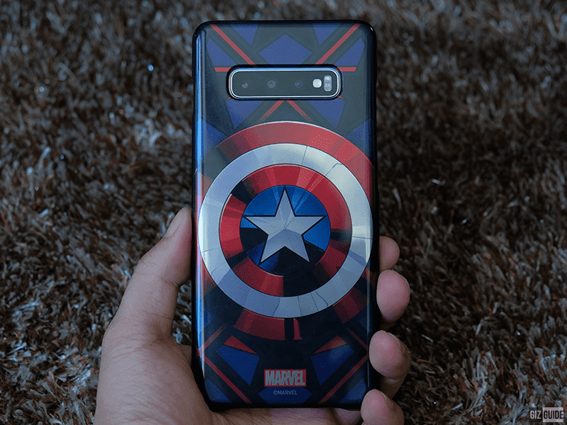 S10+ with the Captain America smart cover