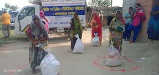 दिहाड़ी मजदूरों के परिवारों को जन विकास संस्थान ने दिया राशन | #NayaSabera
