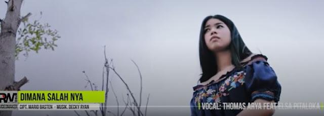 Lirik Lagu Pof Malaysia Thomas Arya Feat Elsa Pitaloka - Dimana Salahnya