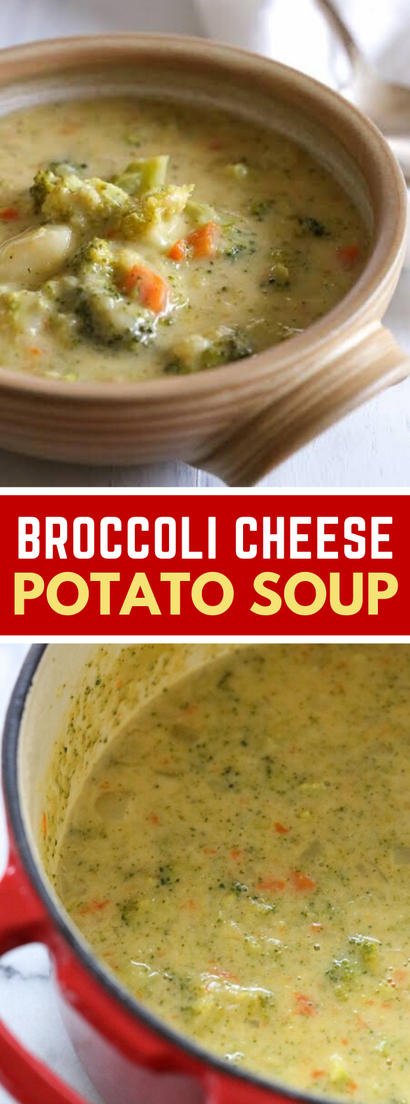 BROCCOLI CHEESE AND POTATO SOUP #vegetarian #healthy