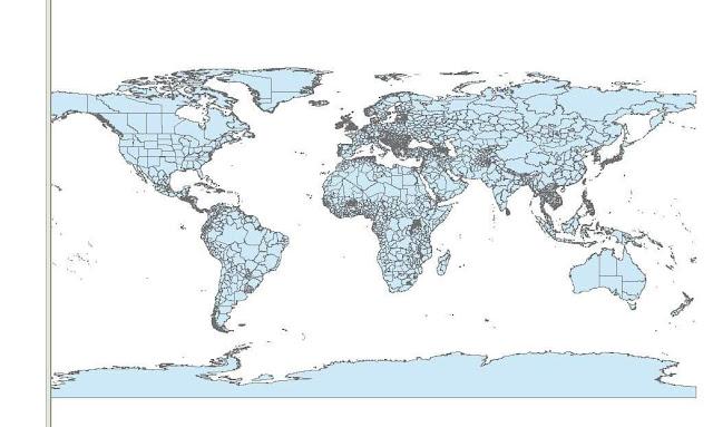 تحميل شيب فايل العالم كاملا- world Shapefile- خريطة رقمية لدول العالم