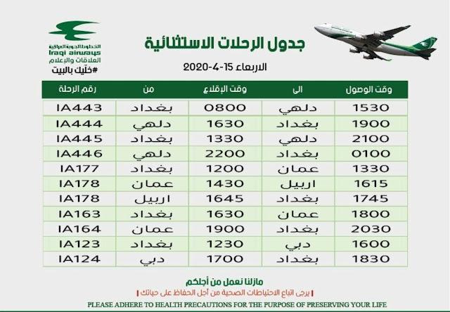 وزارة النقل : تعلن عن جدول الرحلات الأستثنائية ليوم غد الأربعاء؟