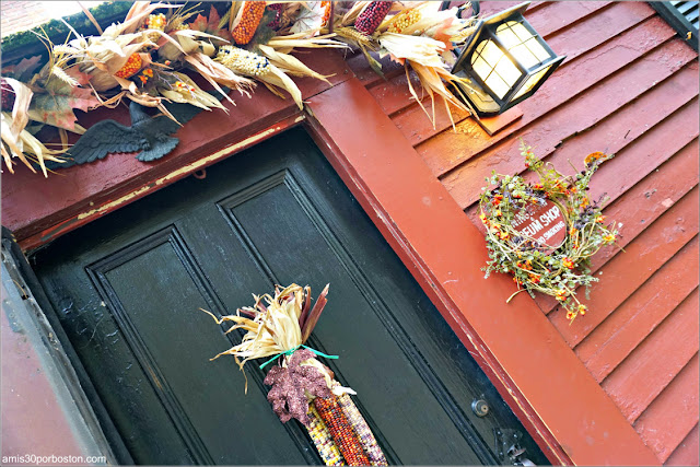 Puerta de la Casa de la Abuelita de Caperucita Roja en Pickity Place, Mason