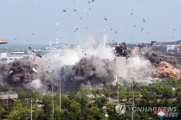 North Korea exploded an inter-Korean liaison office