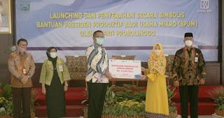 Pemkab Launching dan Serahkan Bantuan Presiden Produktif Usaha Mikro