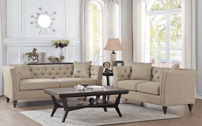 Centralia Casual Style Button Tufted Sofa Furniture