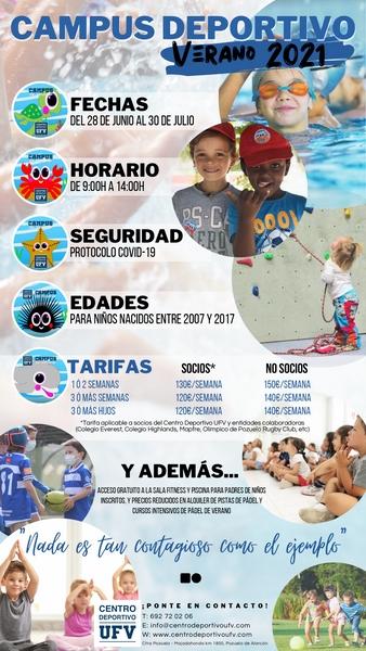 Campus de Verano 2021 Centro Deportivo UFV ¡Apunta a tu hijo/a!