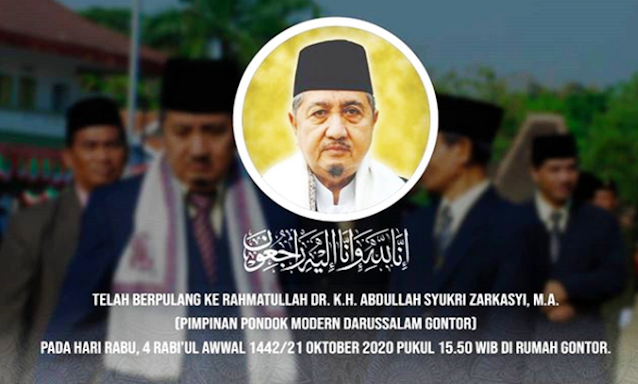 Innalillahi, KH Abdullah Syukri Zarkasyi, Pengasuh Pesantren Gontor Meninggal Dunia