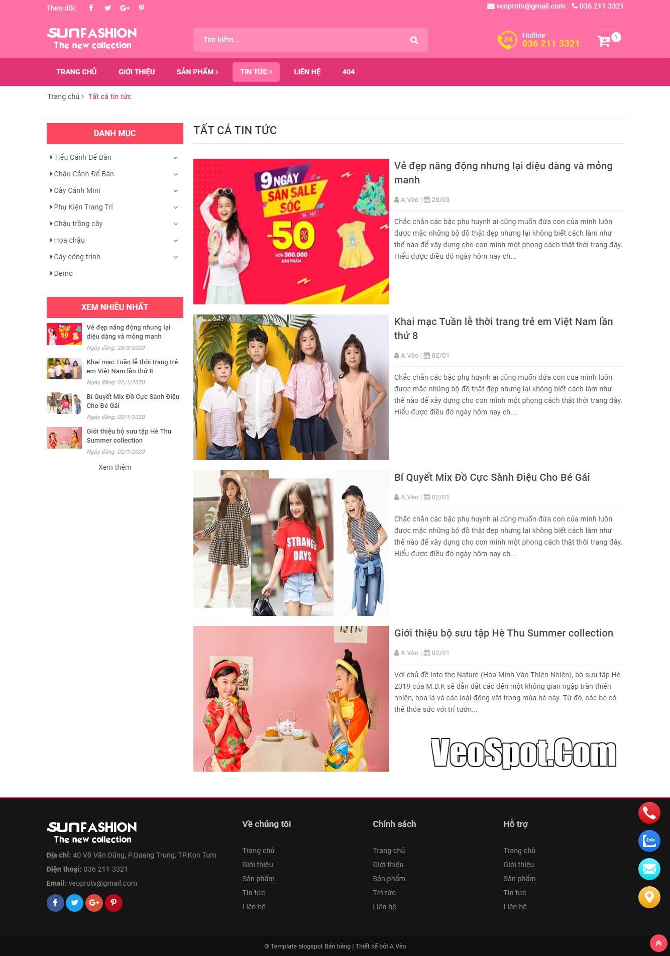 Template Blogspot SunFasun trang Nhãn (Label tin tức)