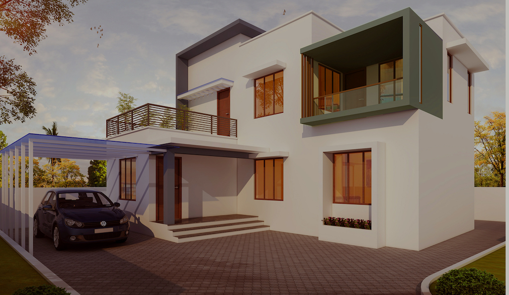 Contemporary 3 Bed Kerala Home Design Plan And Elevation