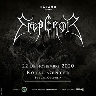 Concierto de EMPEROR en Colombia 2020