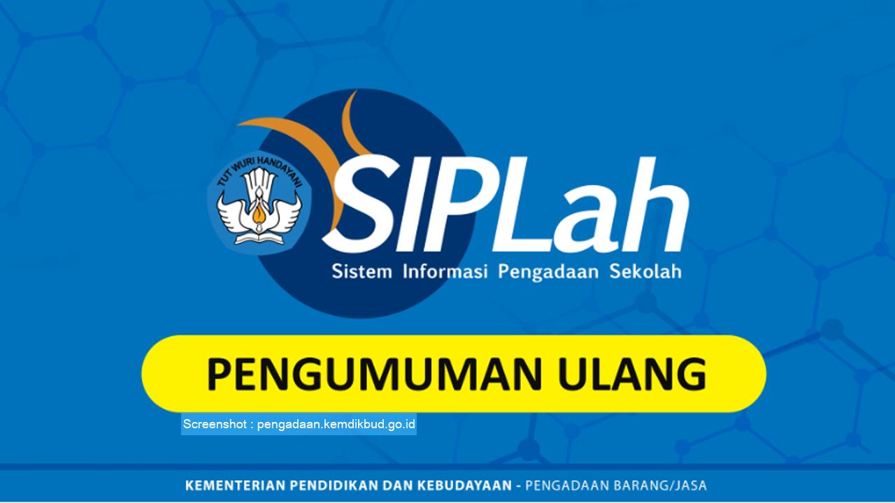 Sistem Informasi Pengadaan Sekolah, SIPLah Tahun 2019