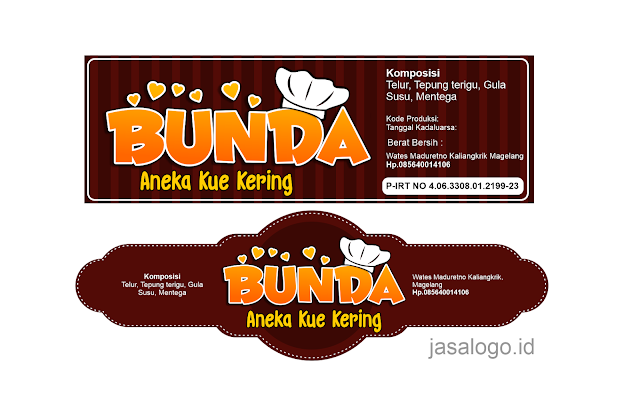 Jasa Desain Stiker Kue Kering