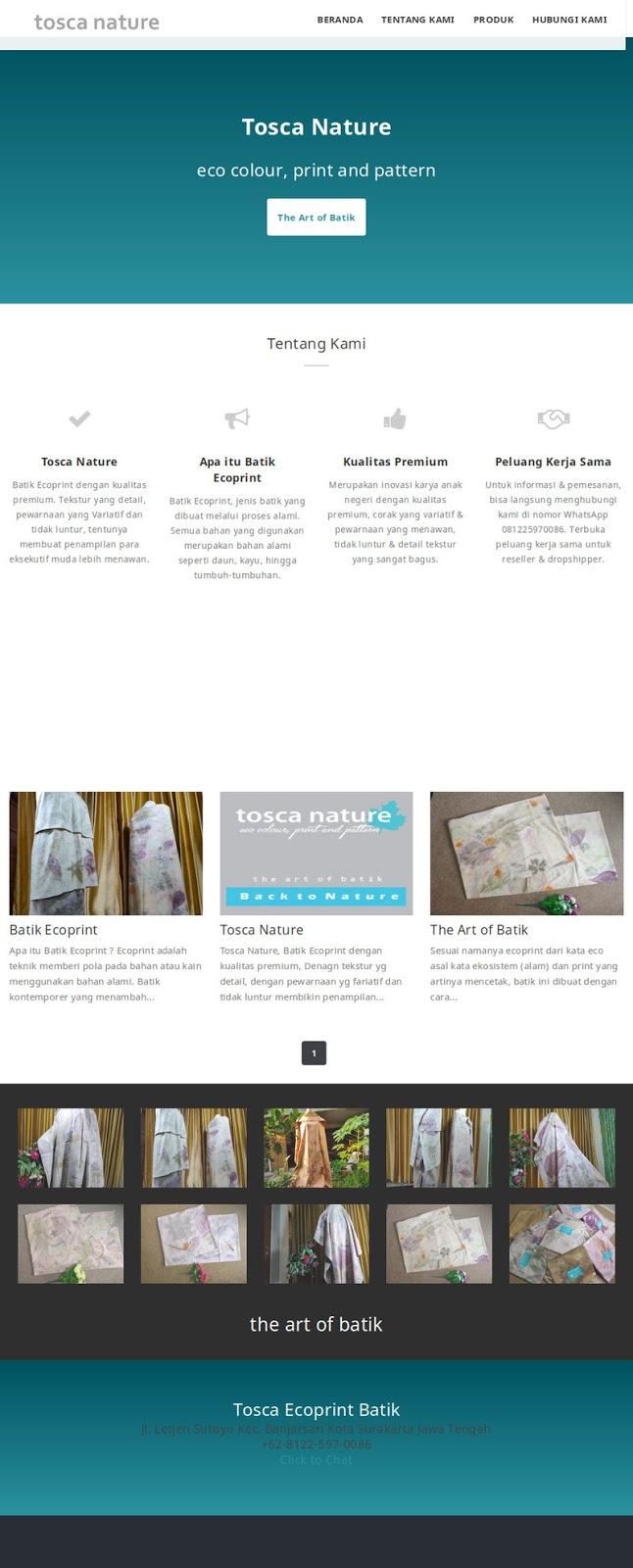 Tosca Ecoprint Batik
