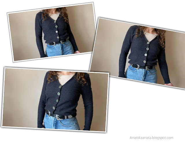 thrift flip old sweater diy |easy way to refashion sweater