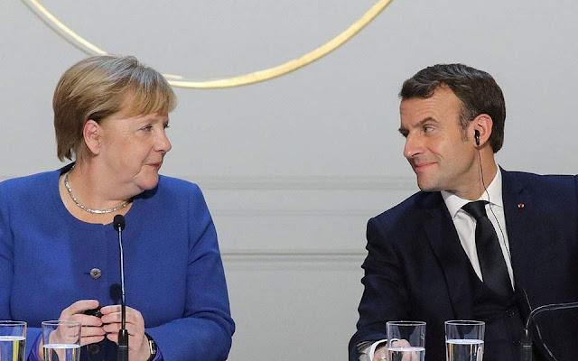 Συνομιλίες Μέρκελ - Μακρόν στο Βερολίνο