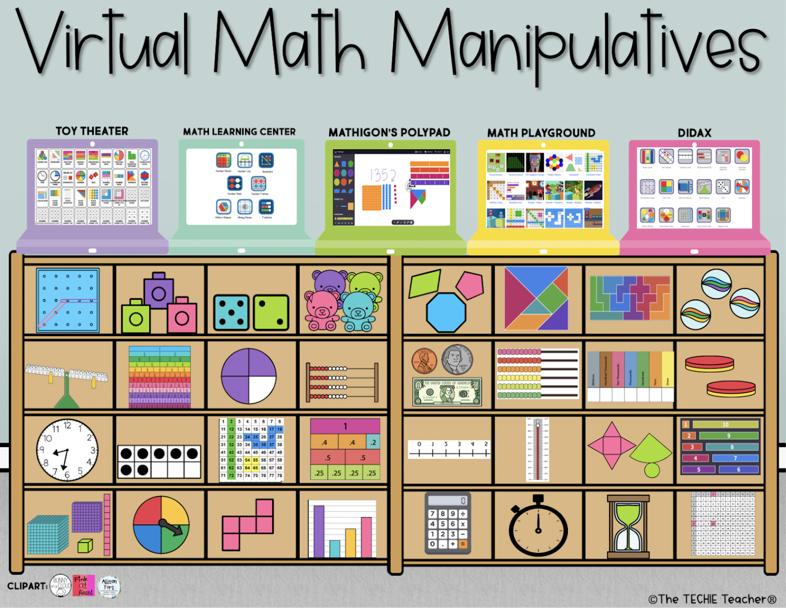 Come grab this free resource that is a collection of my favorite virtual math manipulatives!