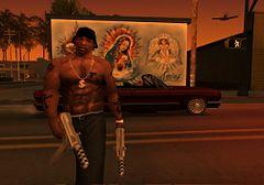 Imagens CJ do jogo (GTA-SAN ANDREAS PS2 USA) site JSV