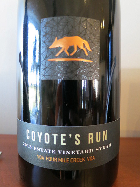 Coyote's Run Estate Syrah 2015 (89 pts)