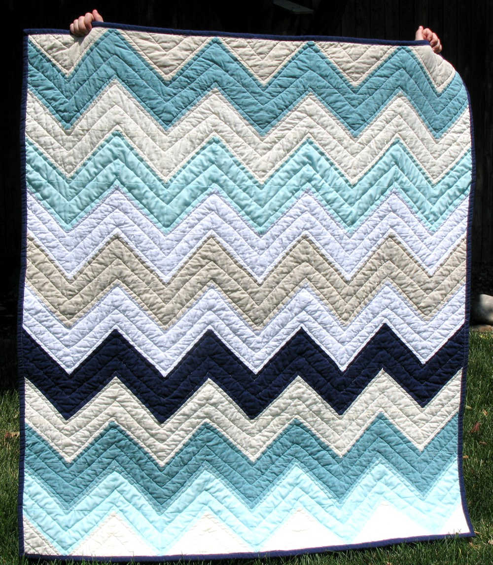 ... touch of modern she sewed up this chevron quilt for the nursery