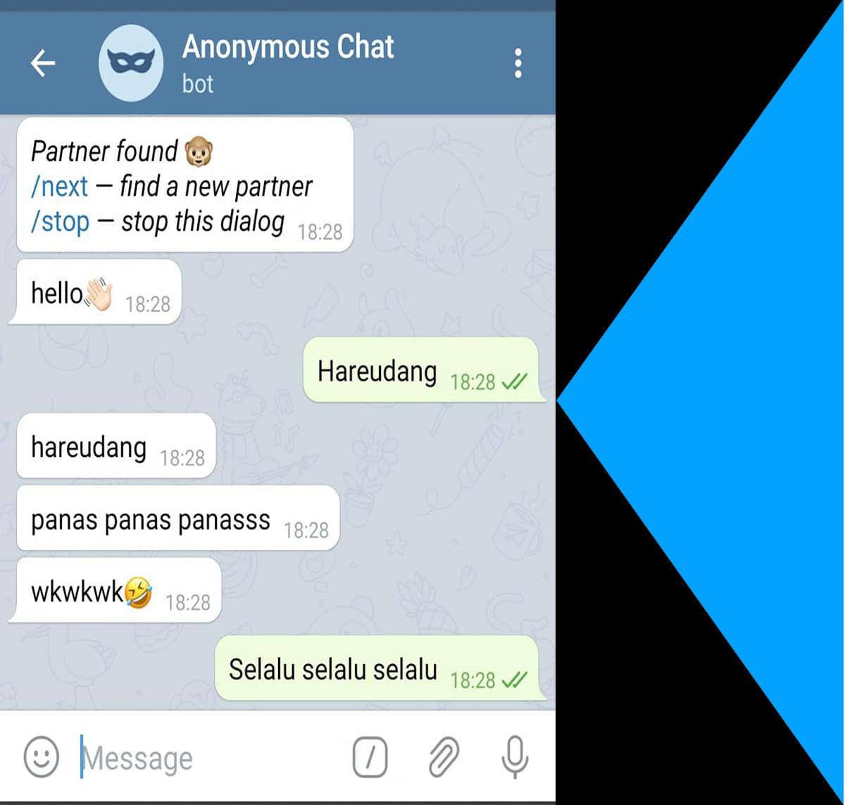 Cara agar banyak yang chat,coba pakai anonxbot bot telegram paling