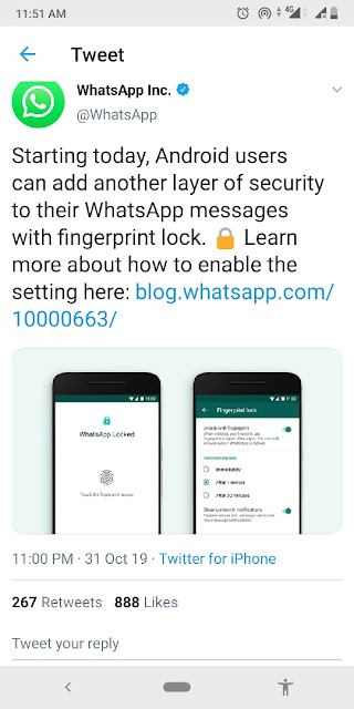 Whatsapp's fingerprint lock update is now available for Android users