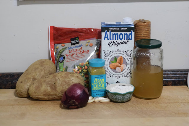 In ingredients needed to make the easy vegan vegetable casserole recipe.