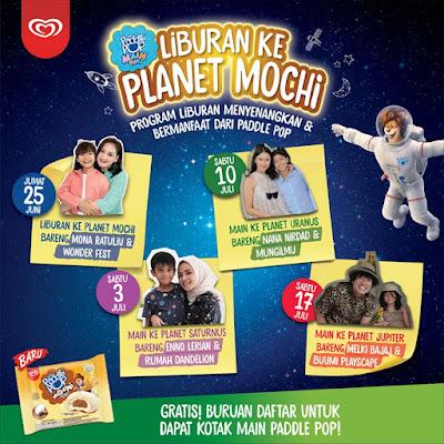 Empat paket kegiatan Liburan ke Planet Mochi bersama Paddle Pop