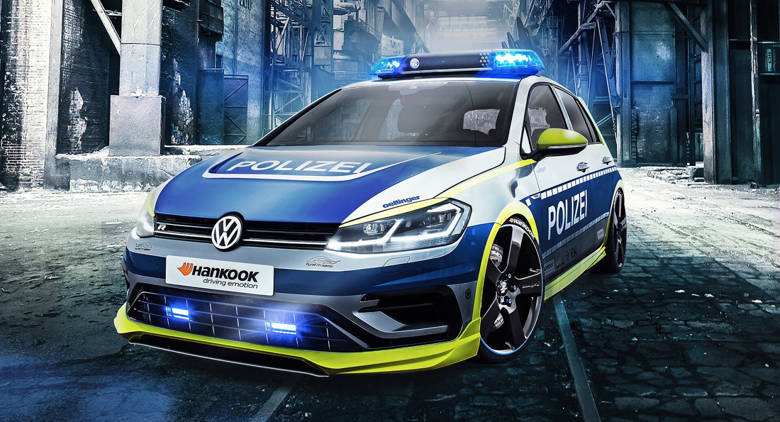 oettinger built this one off vw golf 400r police car. Black Bedroom Furniture Sets. Home Design Ideas