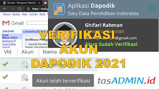 verifikasi akun dapodik 2021