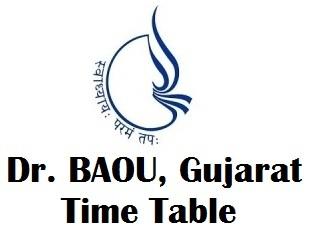 Dr. BAOU Timetable 2018