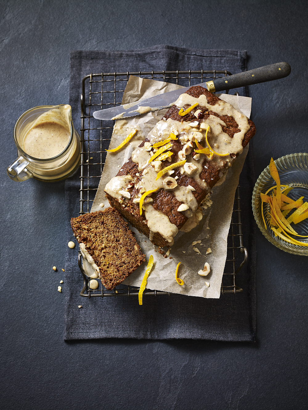 Orange, Hazelnut And Caramel Vegan Loaf