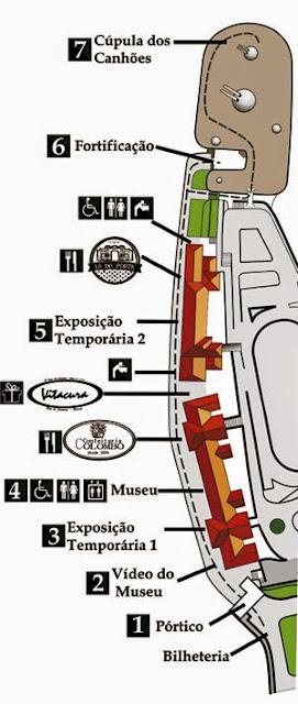 Mapa do Forte de Copacabana - Rio de Janeiro