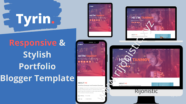 Tyrin Responsive Portfolio Blogger Template   Free Download!