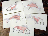 Creating different carp plates for collograph