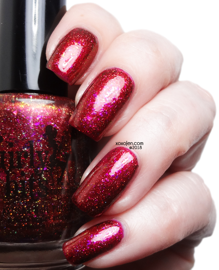 xoxoJen's swatch of Girly Bits Red Sky at Night