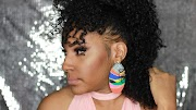 Curly Faux Mohawk for Natural Hair Using a Half Wig