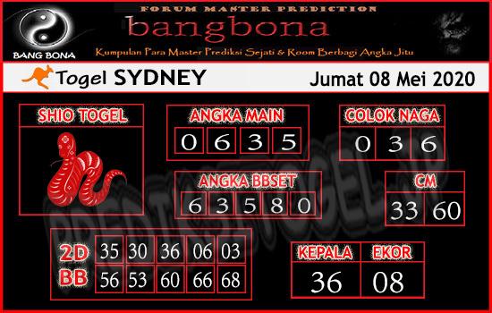 Prediksi Sydney Jumat 08 Mei 2020 - Bang Bona Sydney