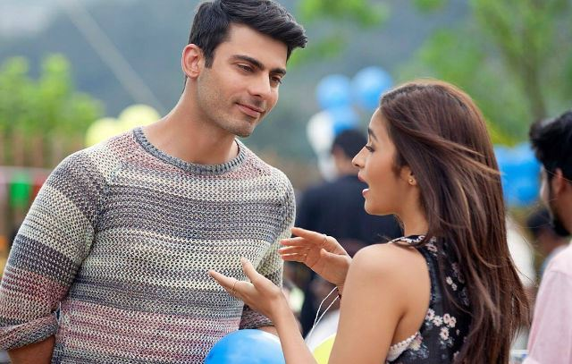 Fawad Khan and Alia Bhatt in Kapoor & Sons (2016)