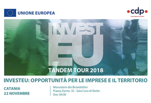 Tappa catanese per il Tandem Tour Invest EU: Opportunità per le imprese e il territorio