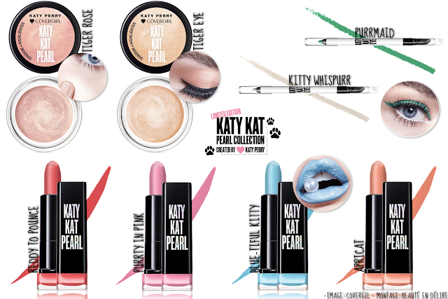 Aperçu de la collection Katy Kat Pearl signé Katy Perry de Covergirl.