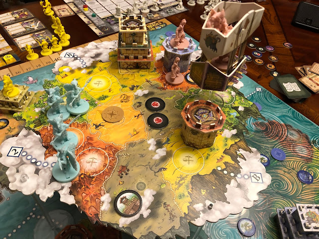Heroes of Land, air & Sea Board Game Pestilence Expansion Gameplay; Photo by Benjamin Kocher; Game by Gamelyn Games