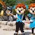 Les mascottes de Nigloland lancent les travaux de la nouveauté 2020 !