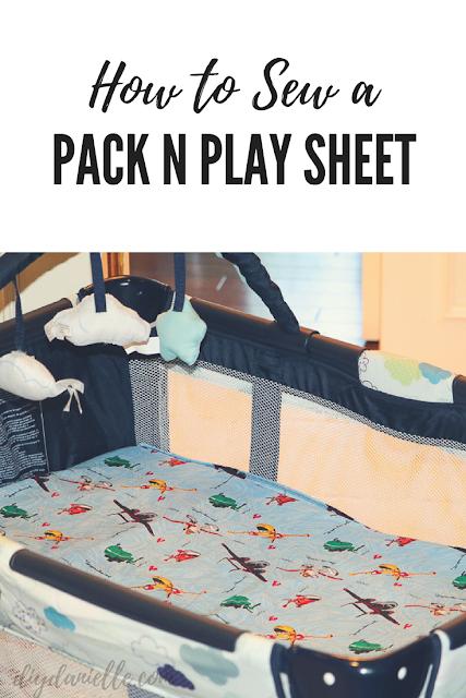 Easy Graco Pack N Play playard sewing tutorial.