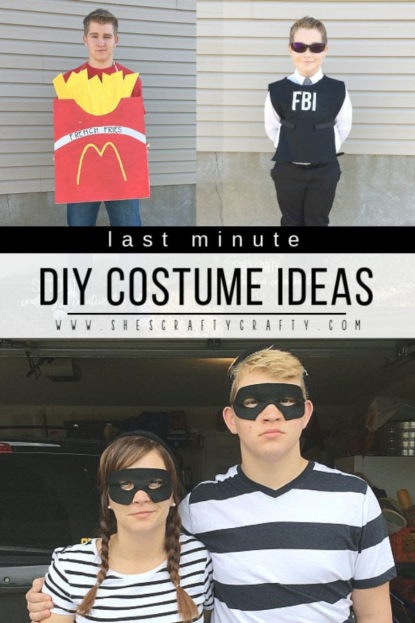 last minute DIY costume ideas - ideas to whip up a clever costume at the last minute for teens, children and adults